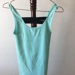 Bebe PP PS light blue and black mini dress